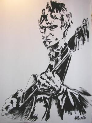 Zeichnung, Malerei, Jazz, Gitarre,