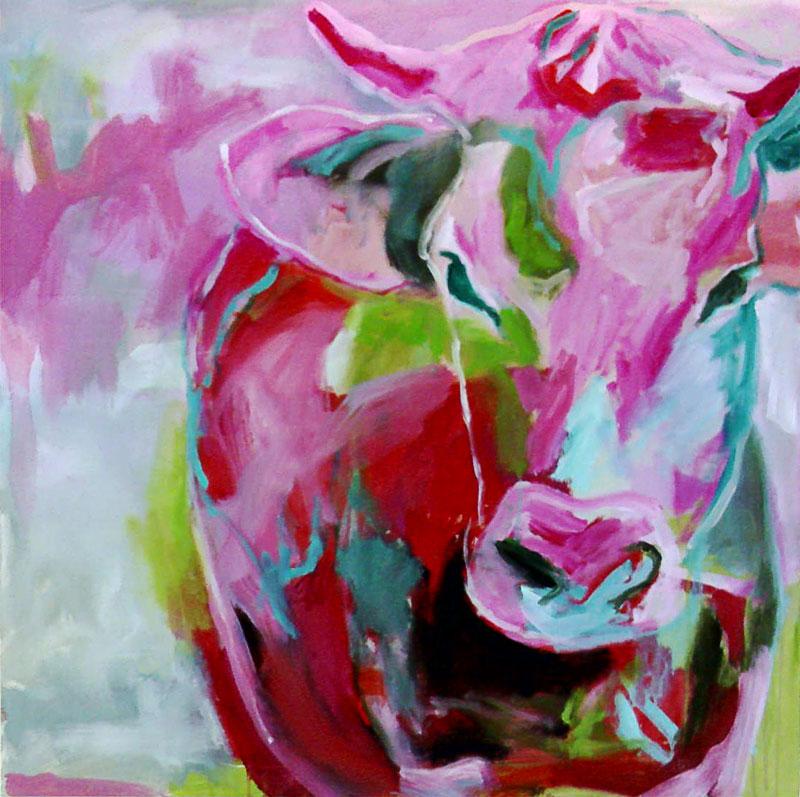 Bild verkauf malerei tiere sagen von sabine minten bei - Kuh bilder auf leinwand ...