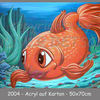 Goldfisch, Acrylmalerei, Fisch, Comic