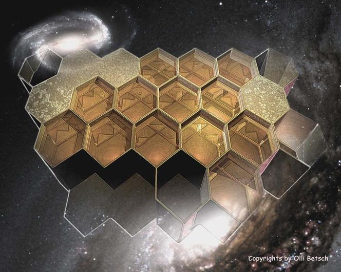 Honig, Biene, Kosmisch, Fotoretusche3d, Wabe, Grafik