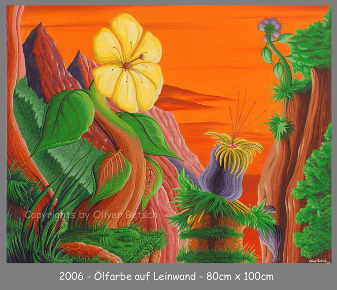 Ölmalerei, Satt, Landschaft, Malerei, Zeit, Veränderung