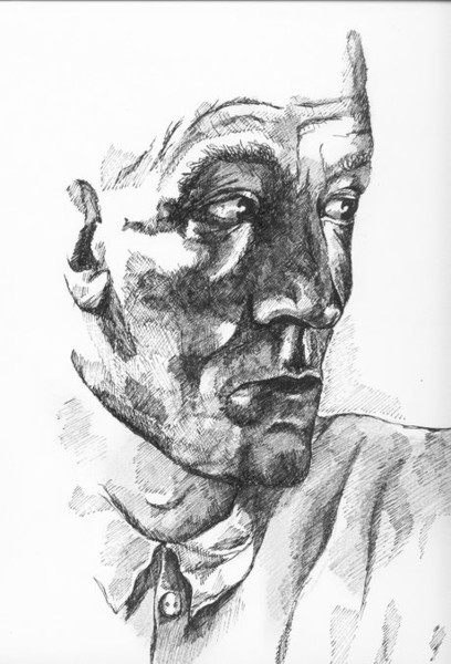 Figural, Mann, Blick, Malerei, Menschen