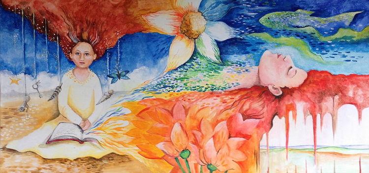 Fantasie märchen traum, Malerei