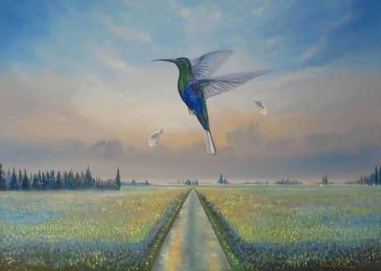 Klibri, International, Kolibri, Ölmalerei, Surrealistisch, Tief