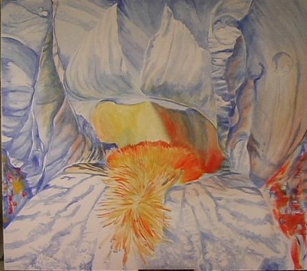 Iris, Malerei, Blumen,