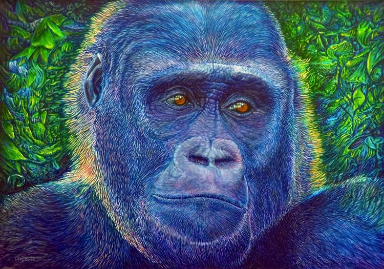 Tiere, Vernichtung, Ölmalerei, Tierportrait, Philosophie, Portrait