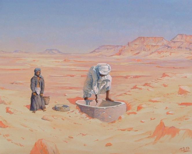 Arabisch, Wüste, Malerei, Contemporain, Orientalisch, Modern