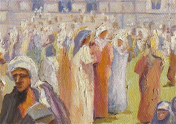 Flüchtlingsproblematik, Malerei, Ausschnitt