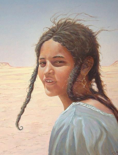 Portrait, Zeitgenössisch, Orientalismus, Moderne kunst, Maghreb, Orientaliste
