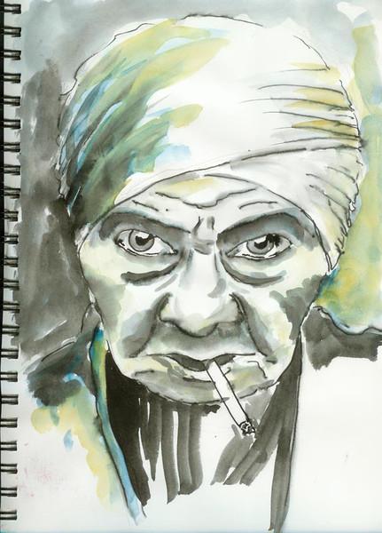 Portrait, Alter, Zeichnungen,