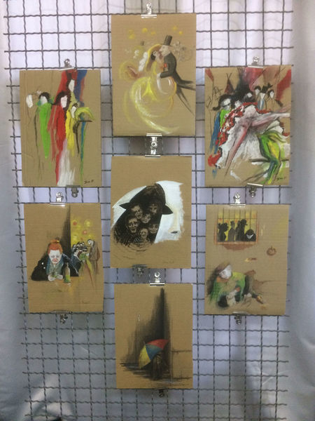 Maskerade, Ausstellung, Proarte, Zeichnungen