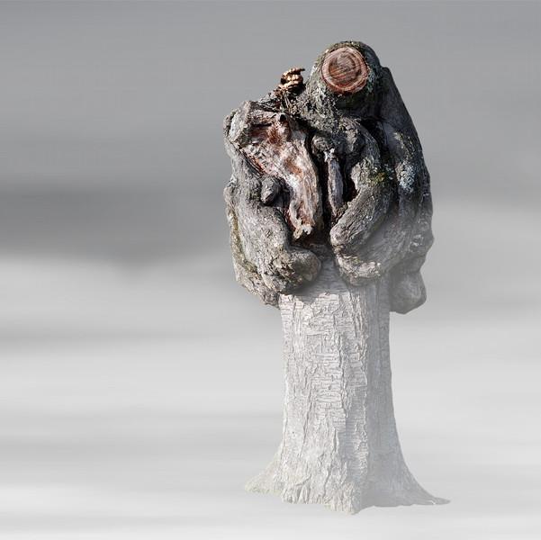 Digital, Digitale kunst, Pflanzen, Skulptur, Baum,