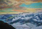 Niesen, Sonnenuntergang, Nebel, Aussicht