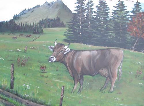 Suisse, Landschaft, Natur, Tiere, Alp, Weide