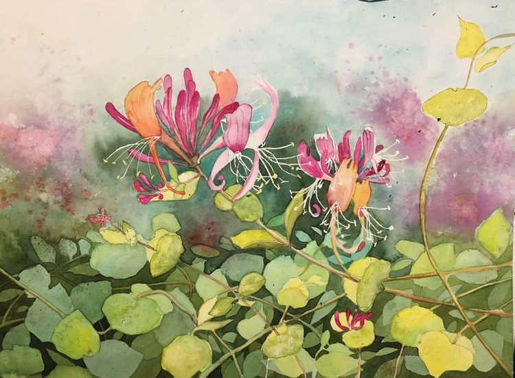 Aquarellmalerei, Natur, Pflanzen, Gemälde, Aquarell,