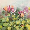 Gemälde, Pflanzen, Aquarellmalerei, Natur