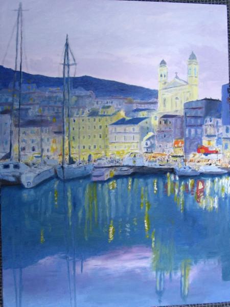 Abend, Wasser, Hafen, Himmel, Landschaft, Bastia