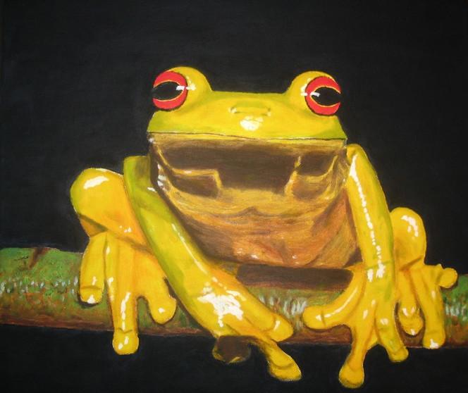 Figural, Malerei, Frosch, Tiere