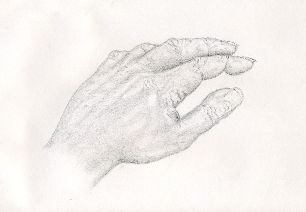 Meine Linke Hand Portrait Hand Zeichnung Studie Von Michael