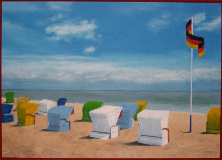 bild malerei landschaften morgens strand von michael. Black Bedroom Furniture Sets. Home Design Ideas