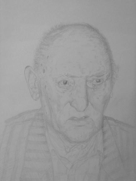 Alter mann, Portrait, Gesicht, Bleistiftzeichnung, Zeichnungen