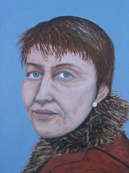 Gesicht, Portrait, Frau, Figural, Ölmalerei, Malerei