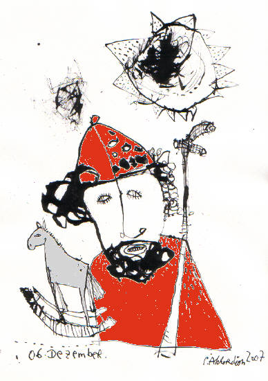 nikolausi bild kunst von petrus akkordeon bei kunstnet. Black Bedroom Furniture Sets. Home Design Ideas