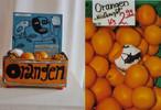 Petrus akkordeon orangeneinwickelpapiere, Mischtechnik