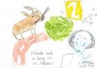 Akkordeon, Paradies, Zeichnung, Petrus