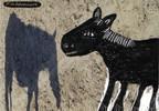 Fotografie, Pferde, Übermalung, 2008