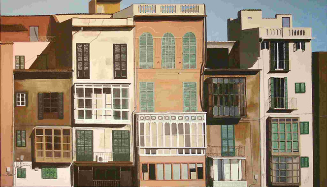 Mallorca, Fotorealismus, Stillleben, Balearen, Malerei, Architektur
