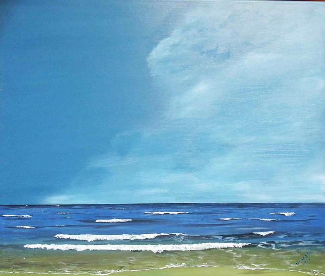Landschaft, Welle, Malerei, Meer, Fotorealismus