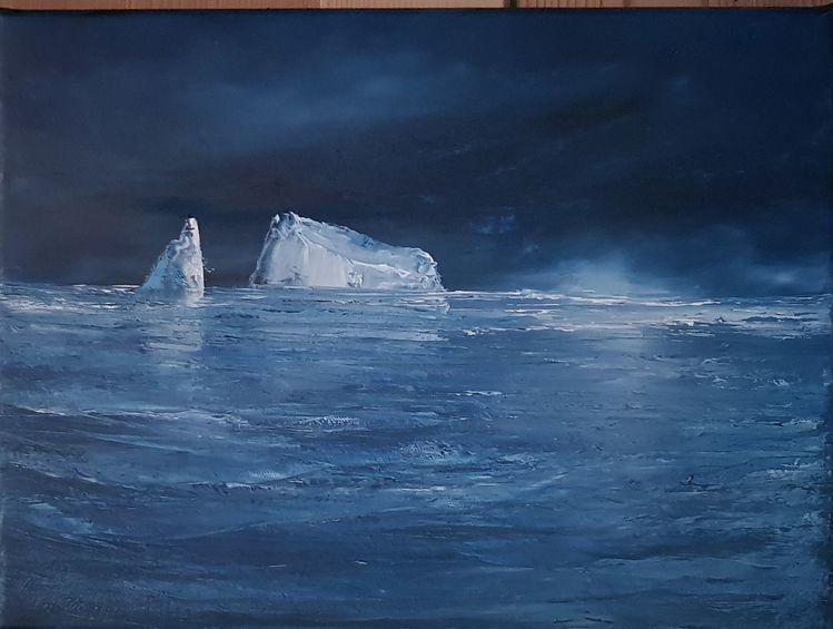 Meer, Atlantik, Eisberg, Spitzbergen, Kalt, Blau