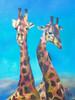 Malerei, Figural, Giraffe, Tiere