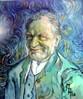 Van gogh, Portrait, Verfremdung, Malerei