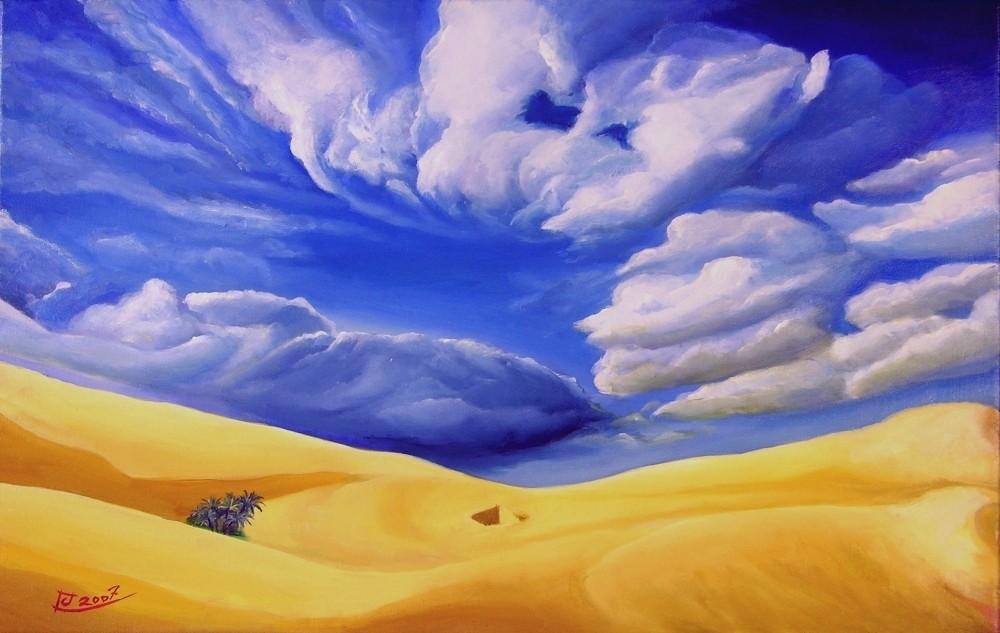 Landschaftsmalerei surrealismus  Bild: Malerei, Surrealismus, Wüste von chrism bei KunstNet