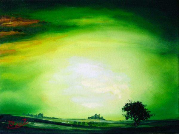 Landschaft, Malerei, Licht