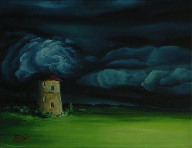 Surreal, Malerei, Sturm