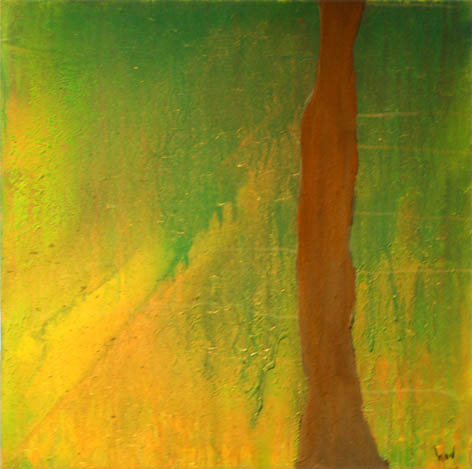Acrylmalerei, Materialbilder, Malerei, Grün,