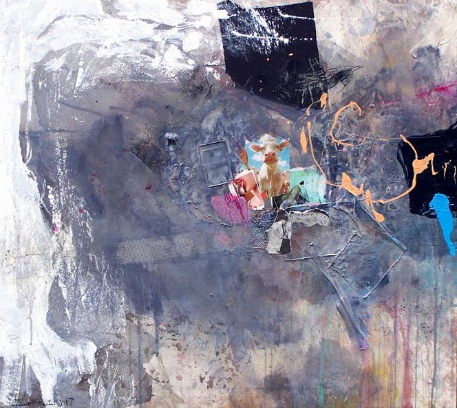 Abstrakt, Malerei, Gesicht