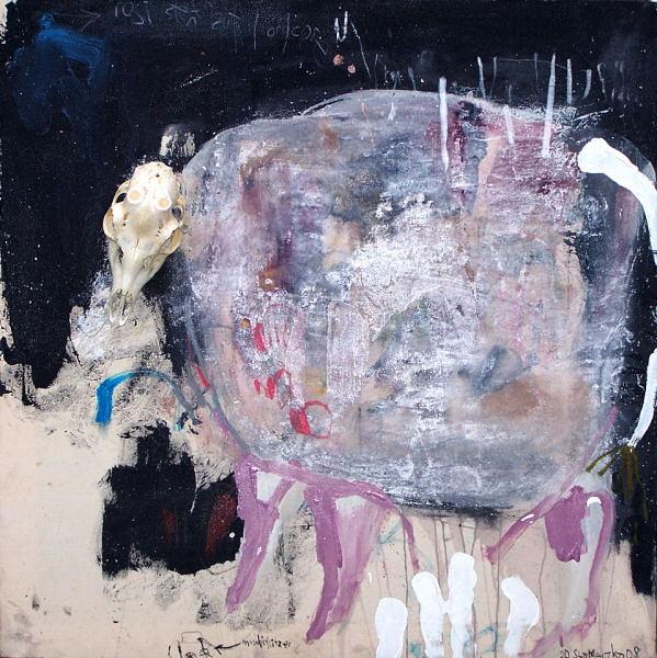 Assemblage, Malerei, Abstrakt,