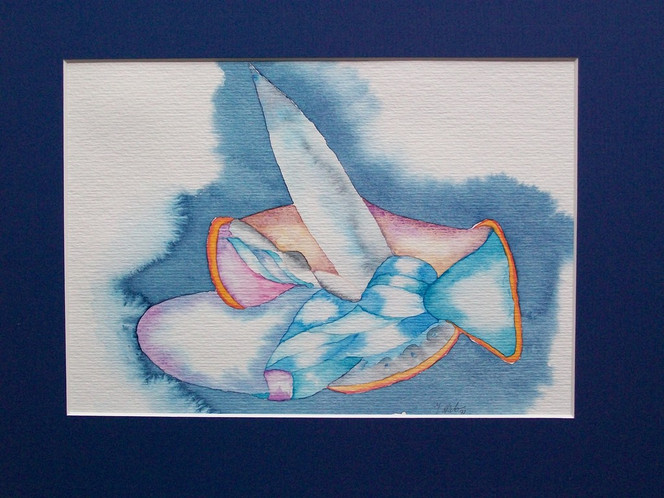 Abflug, Aquarellmalerei, Aquarell