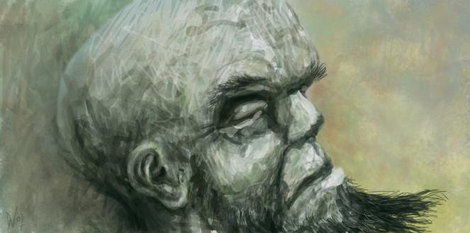 Profil, Malerei, Kopf, Gesicht, Portrait, Figural