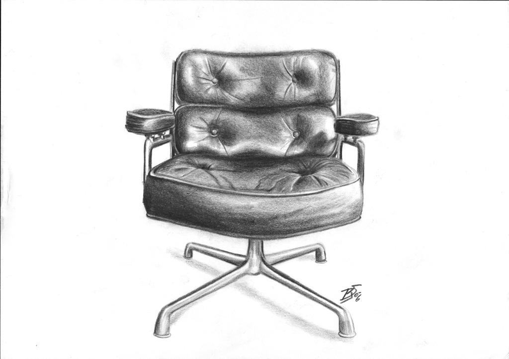 Stuhl gezeichnet  Bild: Eames, Liegestuhl, Stillleben, Stuhl von Dirk Wachsmuth bei ...
