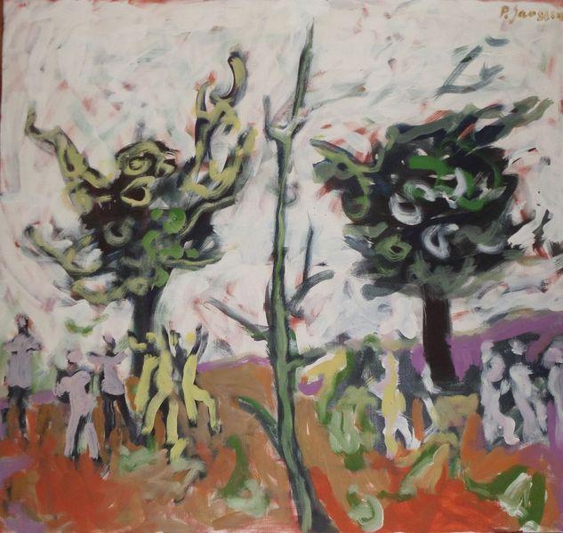 Gemälde, Landschaft, Figur, 1952, Malerei,