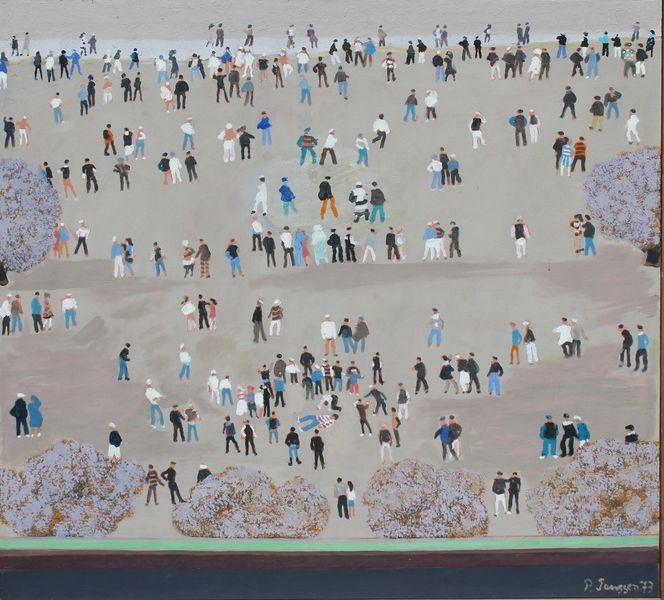 Menschen, 1973, Gemälde, Malerei,