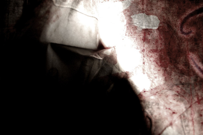 Blut, Digital, Scan, Hand, Abstrakt, Düster