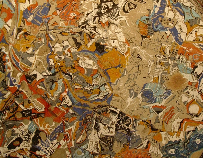 Stein, Malerei, Abstrakt, Acrylmalerei