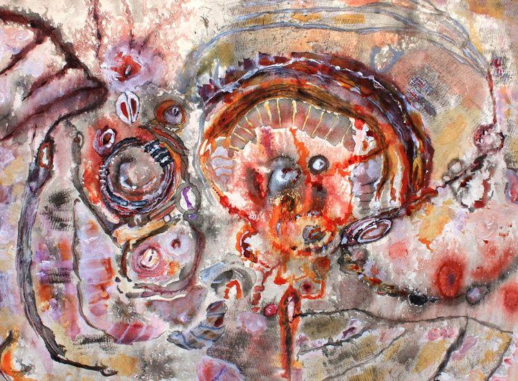 Malerei, Acrylmalerei, Farben, Traum, Karton