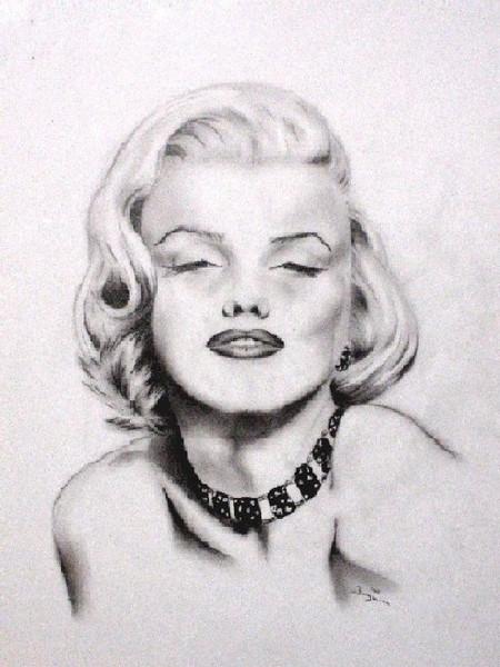 Zeichnung, Monroe, Portrait, Zeichnungen,